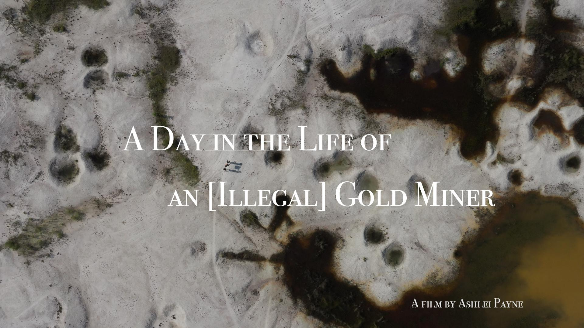 A Day in the Life Of an [Illegal] Gold Miner